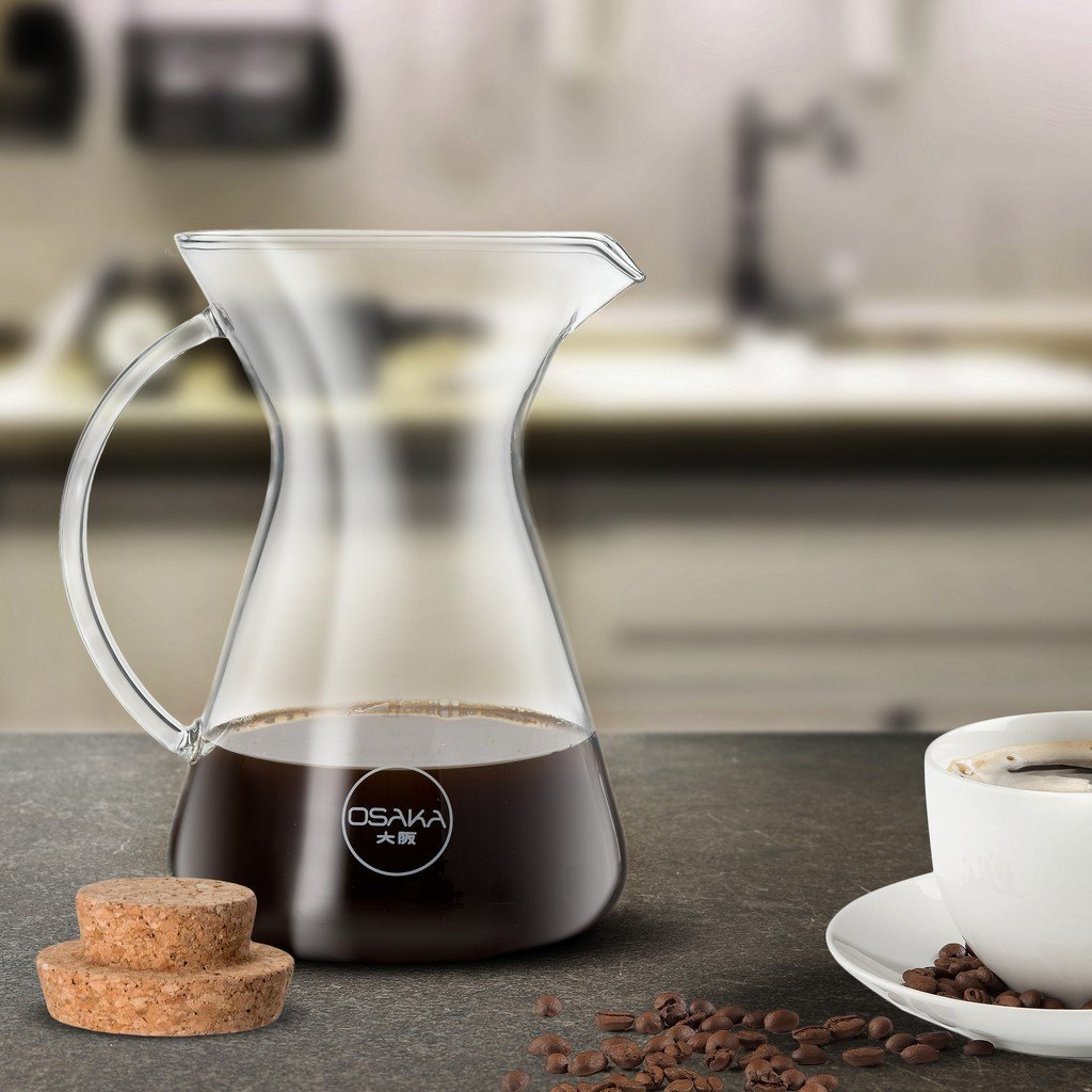 Pour Over Coffee Brewer with Cork Lid