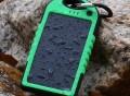 Dual USB 5000MAH Shockproof Waterproof Solar Power Bank