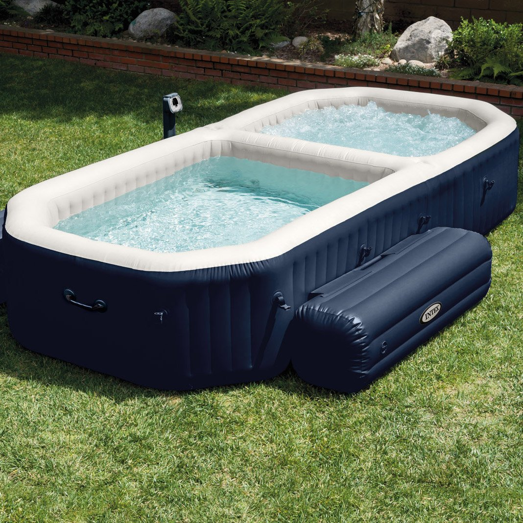 Intex purespa bubble hot tub and pool combo petagadget for Spa and pool