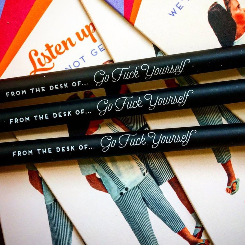 Offensive + Delightful Go F Yourself Pencil Pack