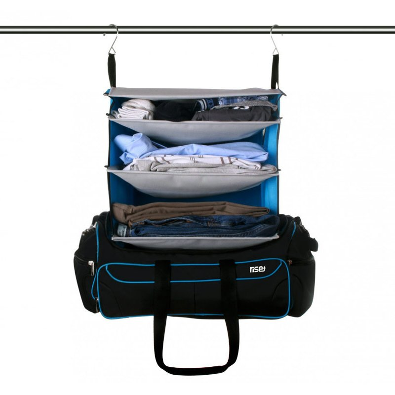Weekender Duffle Bag With Collapsible Shelves