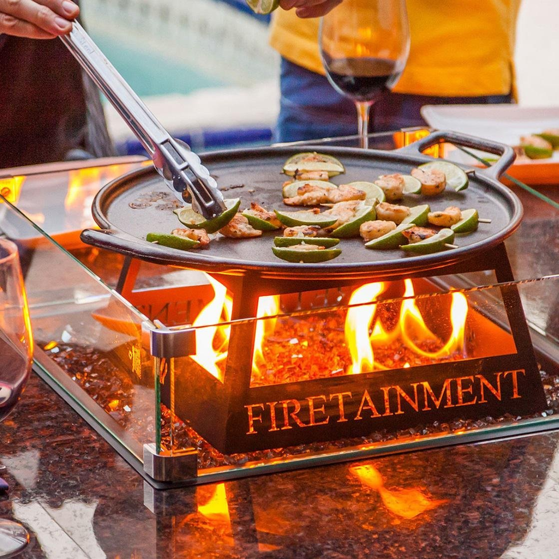Firetainment Fire Pit Cooking Table