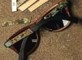 Canby Ebony Oxidized Inlay Grey Polarized Sunglasses
