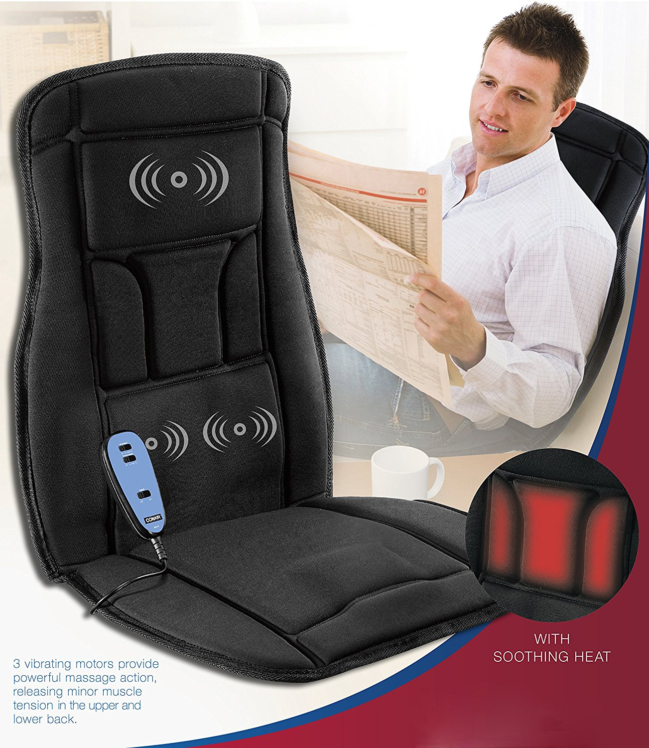 Conair Body Benefits Heated Massaging Seat Cushion