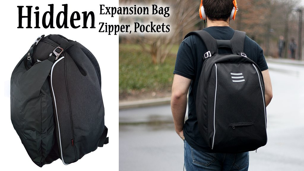 Ninja Backpack – 1st with Hidden Expansion Bag and Zipper