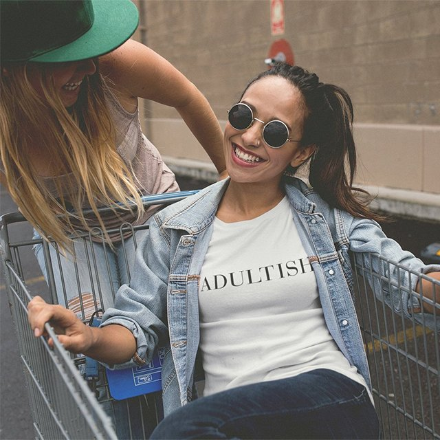 Adultish Vogue Typography T-Shirt