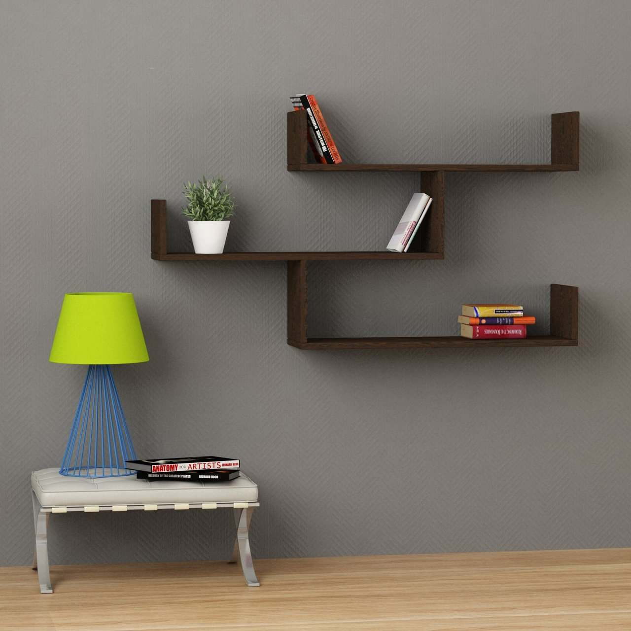 Tibet Floating Shelf Dark Brown