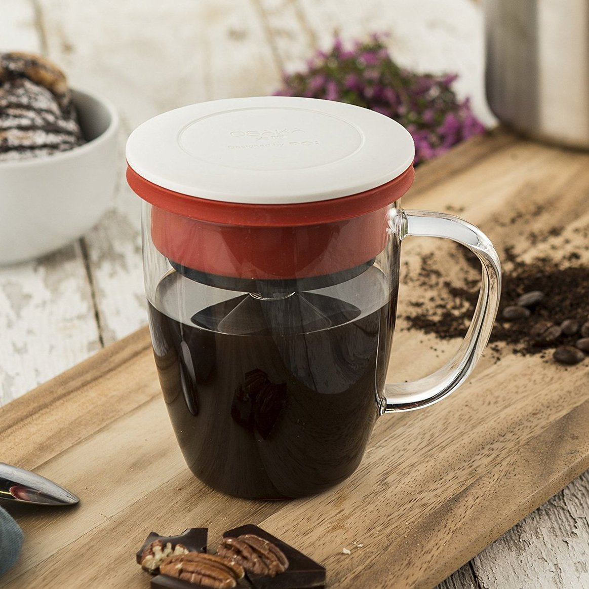 Red Pour-Over Mug Set