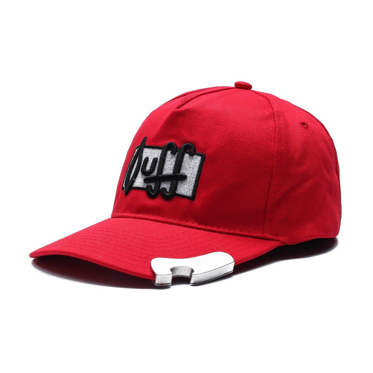 Duff Beer Adjustable Snap-Back Hat with Bottle Opener