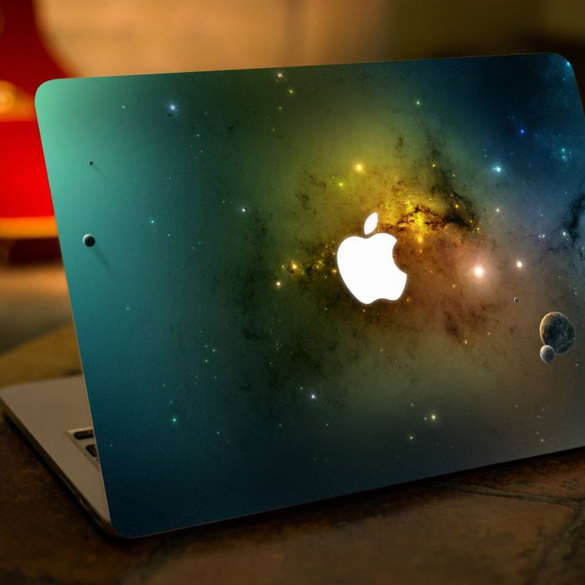 Green Space Macbook Decal