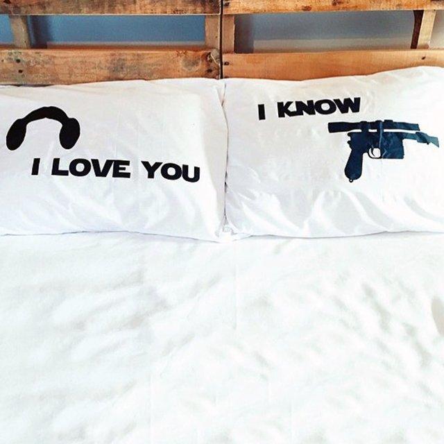 Star Wars I Love You I Know Pillow Case Set Petagadget