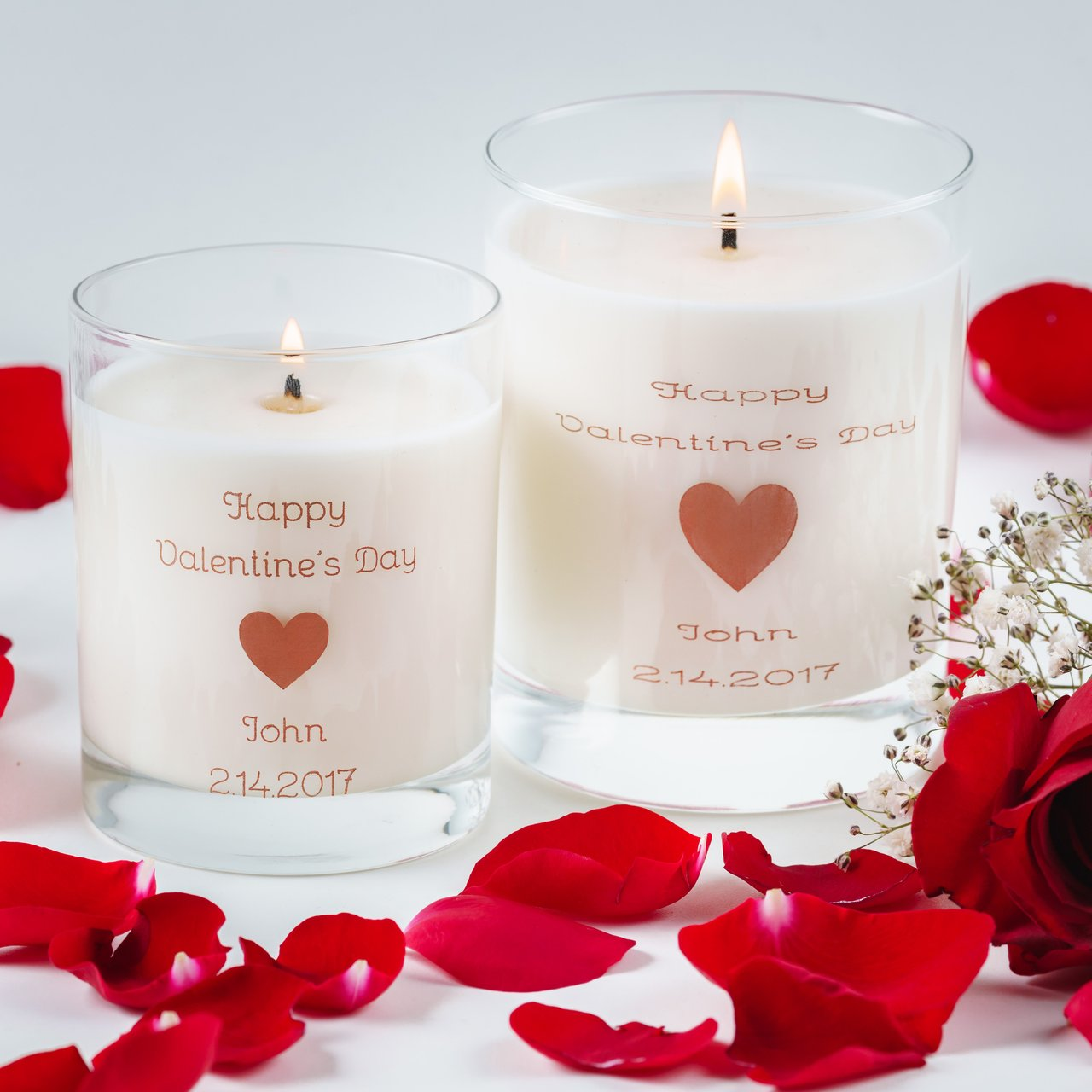 Personalized Valentine's Day Soy Candle