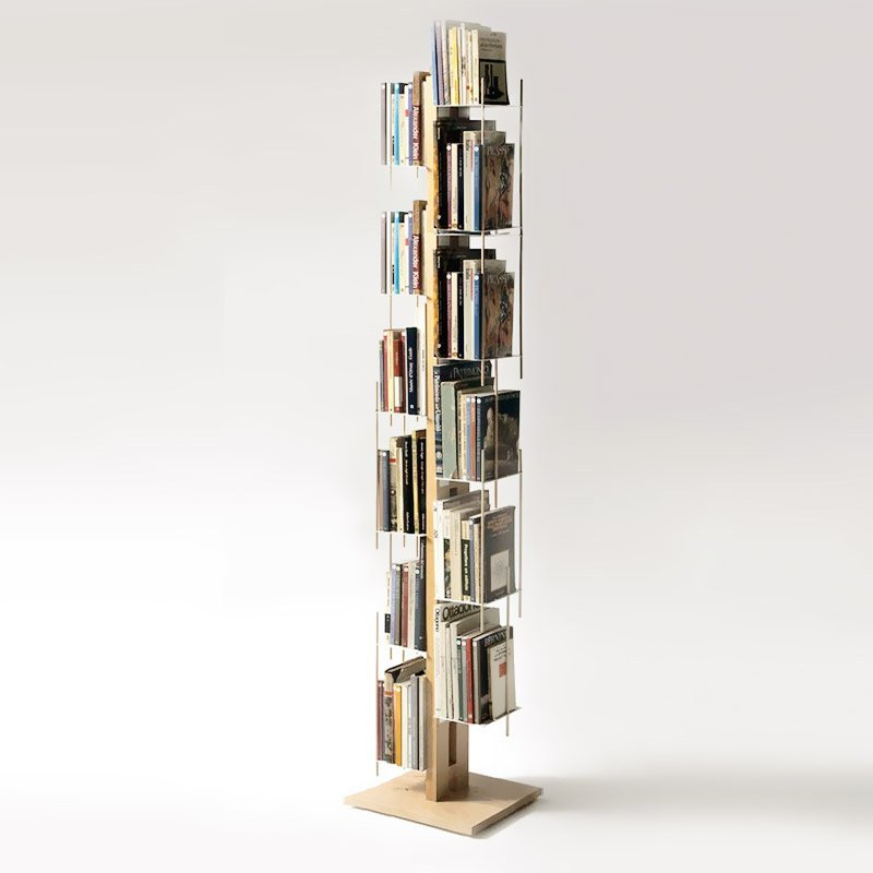 Beech Wood Self-Standing Bookcase