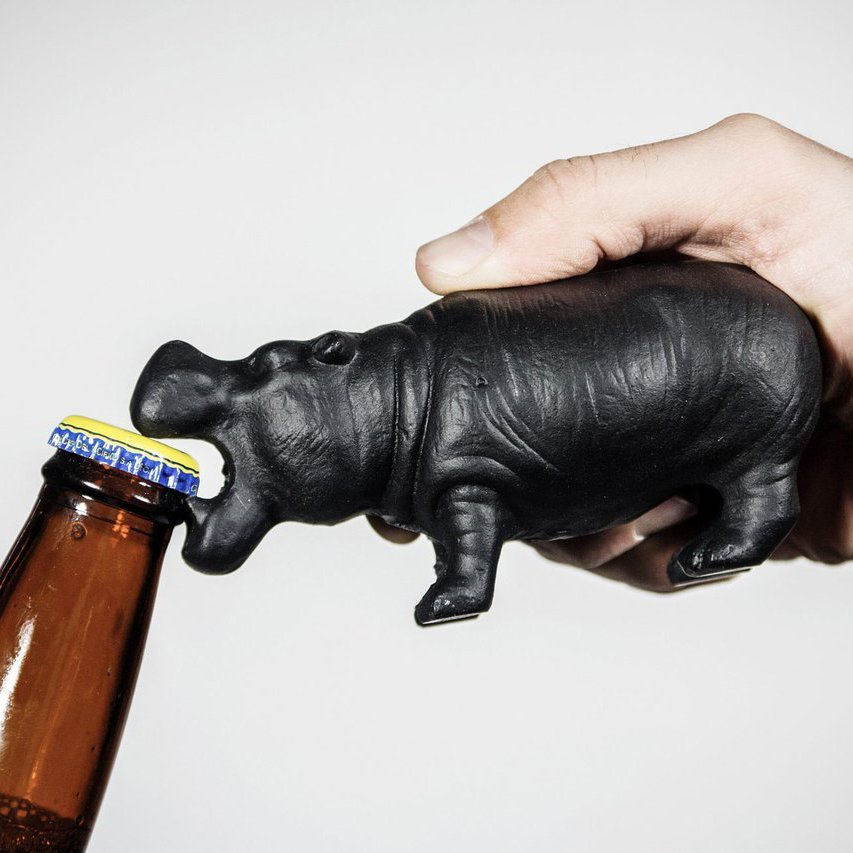 Hippo Cast Iron Bottle Opener