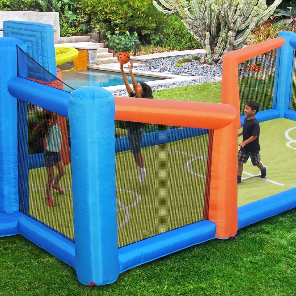 Slama Jama Inflatable Basketball Court