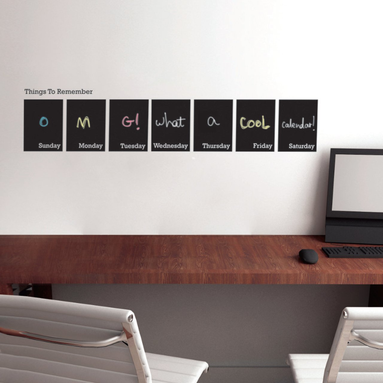 Chalkboard Weekly Calendar Decal By CoolWallArt
