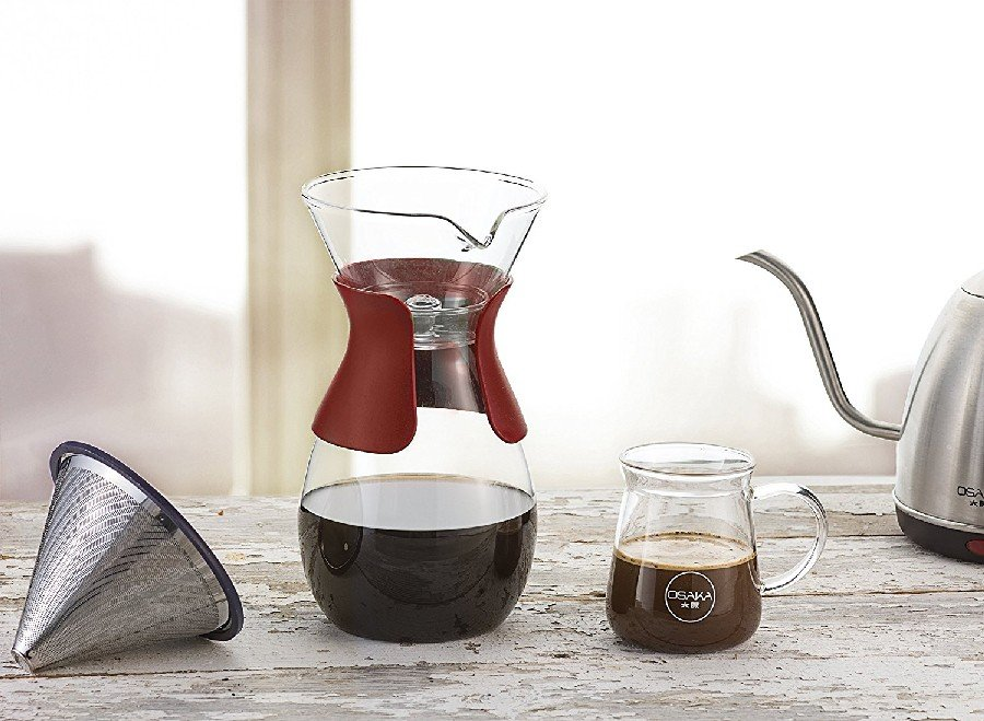 Red Pour-Over Drip Brewer