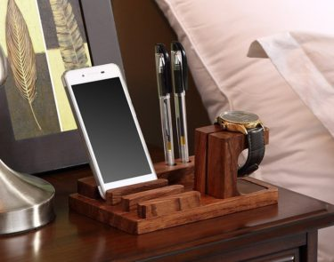 Wood Charge Dock Holder