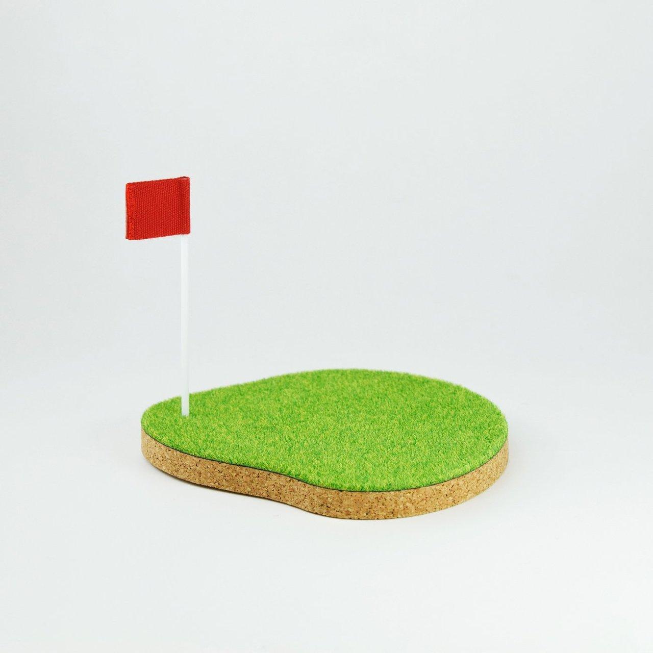Shibaful Sport Coaster Golf Green
