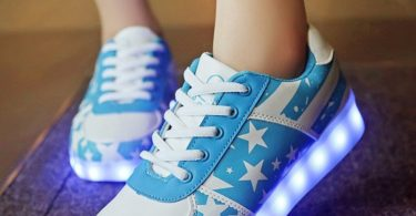Stars Blue LED Sneakers