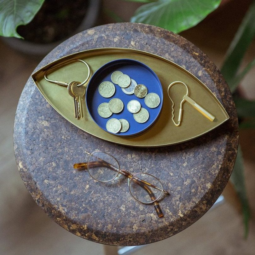 The Eye Gold and Blue Tray