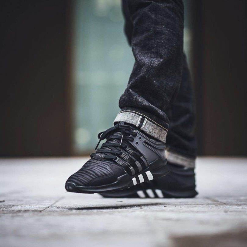 d5db0c90ae3b adidas Originals Black EQT Support ADV Sneakers » Petagadget