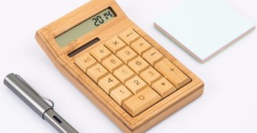 Wooden Solar & Battery Powered Calculator