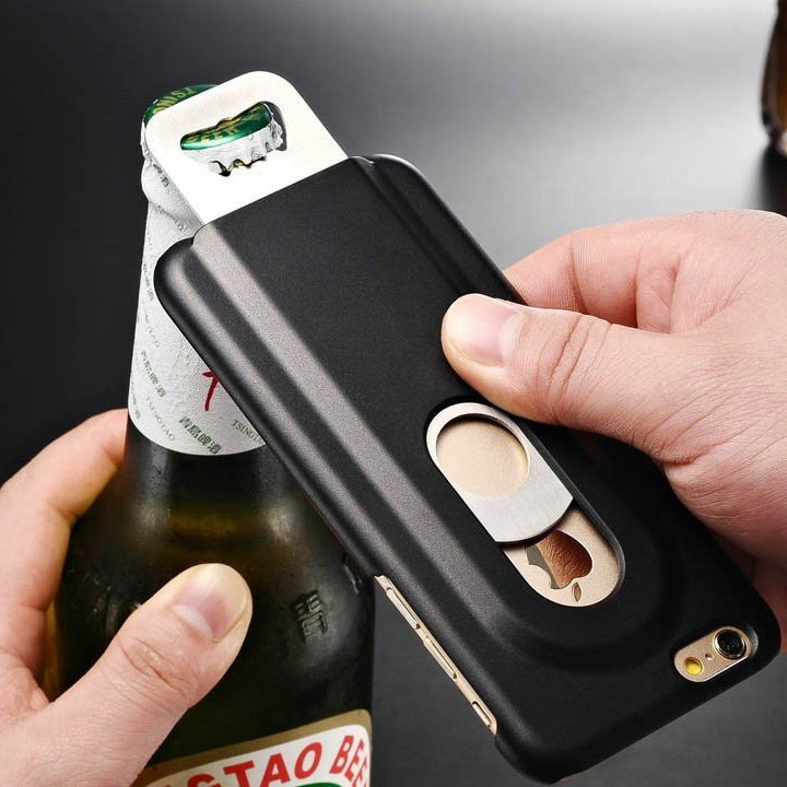 Stainless Steel Beer Bottle Opener Case for iPhone 6