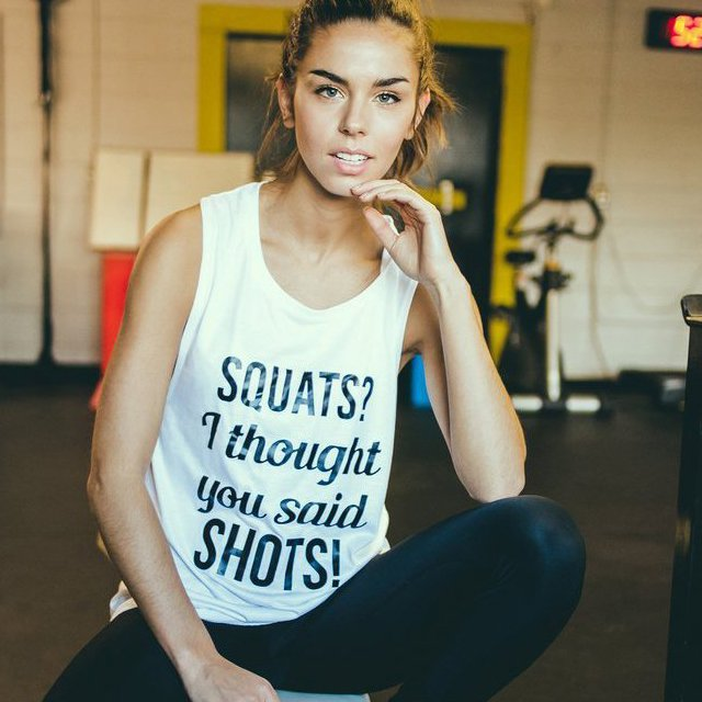 Squats I Thought You Said Shots Muscle Tank