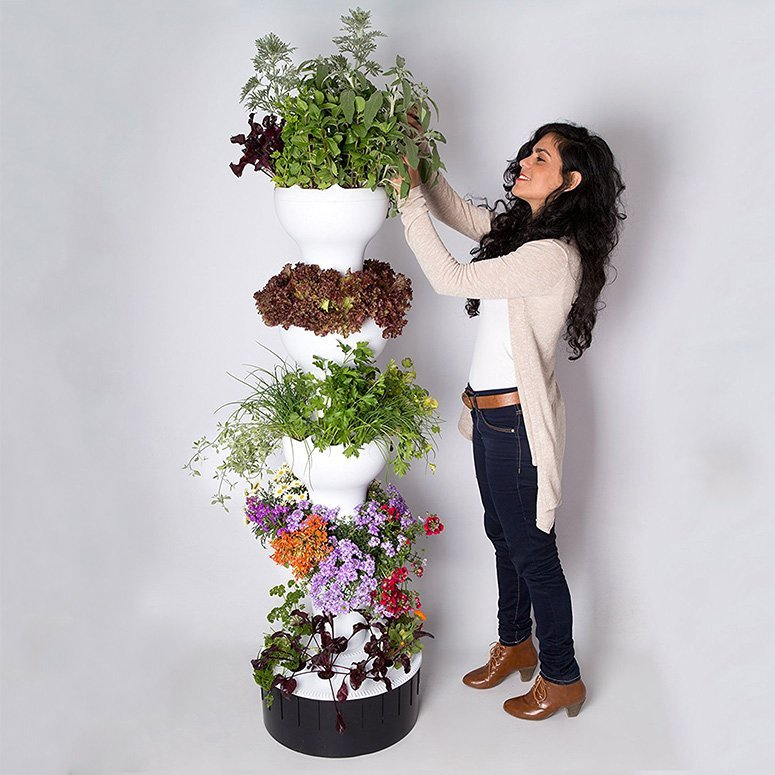 Vertical Hydroponic Garden Tower