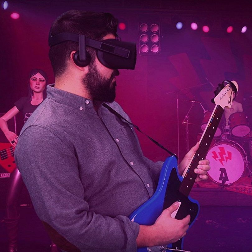 Rock Band VR Game + Guitar Controller