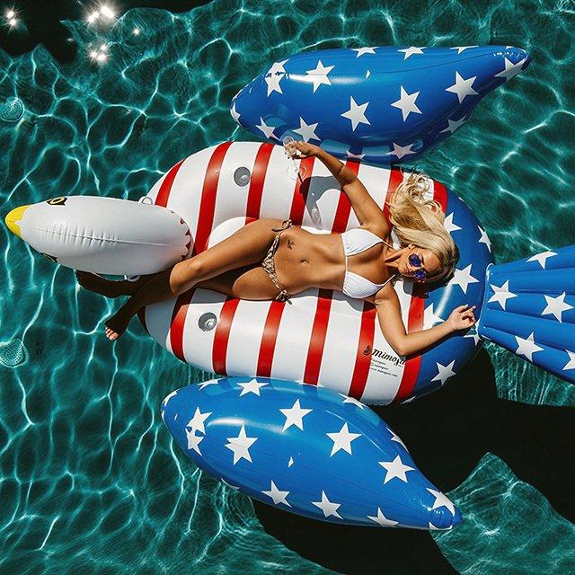 Bald Eagle Inflatable Pool Float