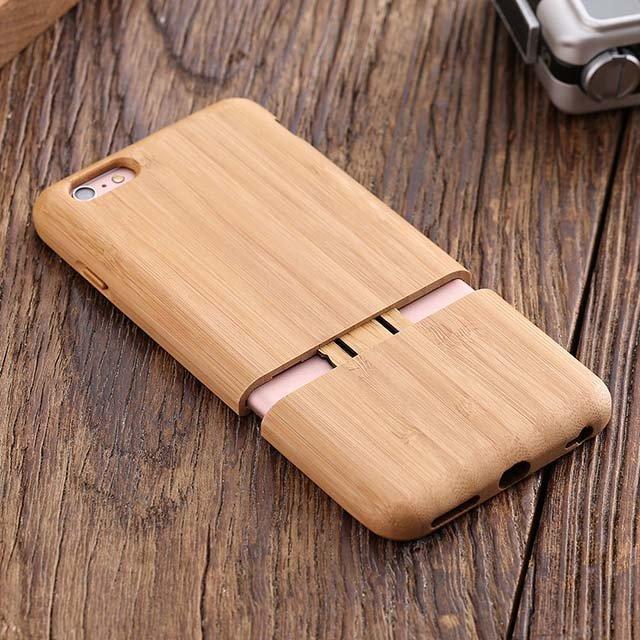 Natural Bamboo iPhone Case