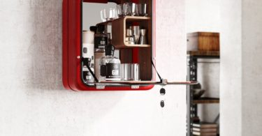Upcycled World War II Icon Bar Cabinet