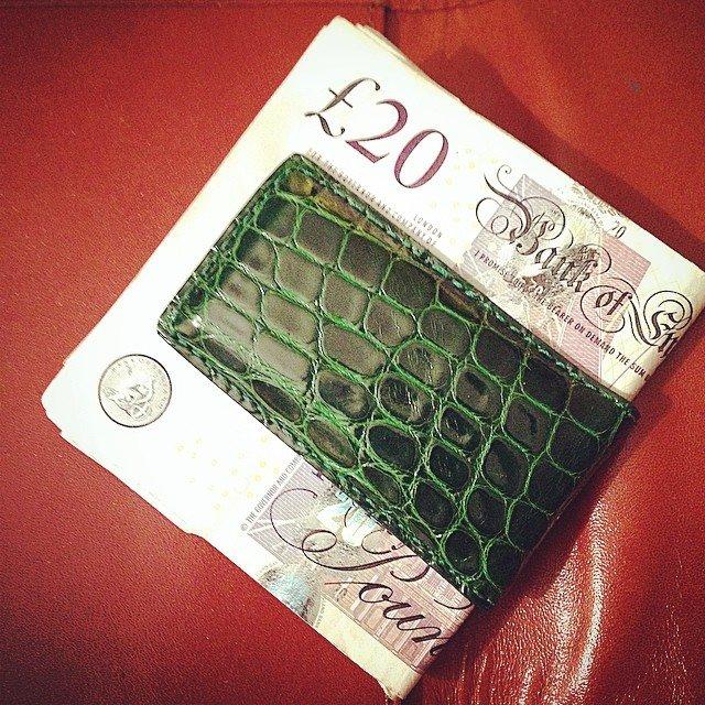 Genuine Alligator Magnetic Money Clip