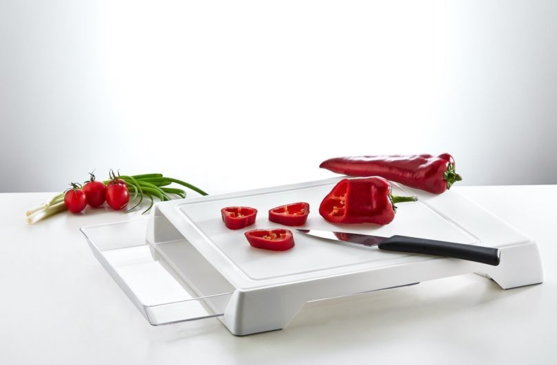 Cutting Board Chopping Station and Storage Tray