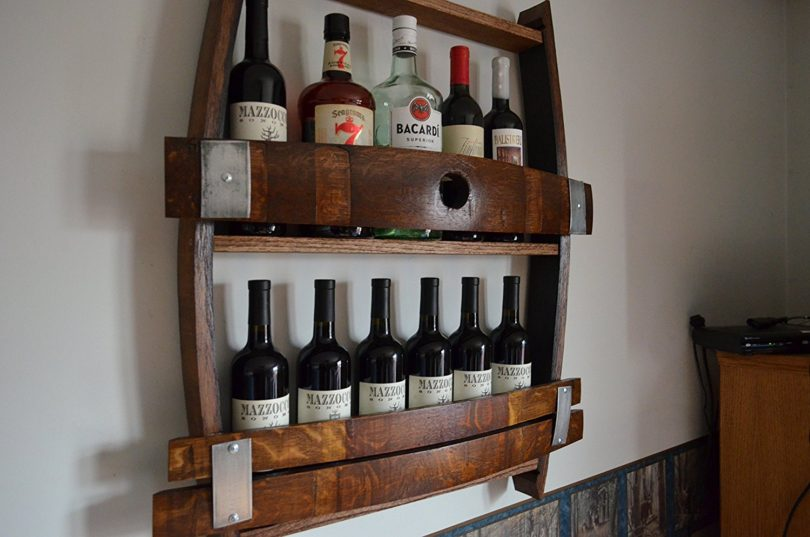 full wine barrel rack ebay cabinet uk