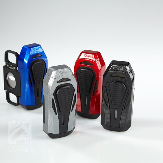 Colibri Boss Triple-Jet Lighter with Integrated Cigar Cutter