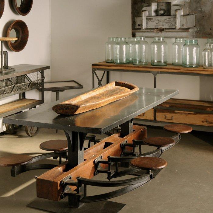 Industrial Lunchroom Table