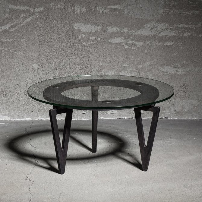 Triangle Solid Wood Coffee Table