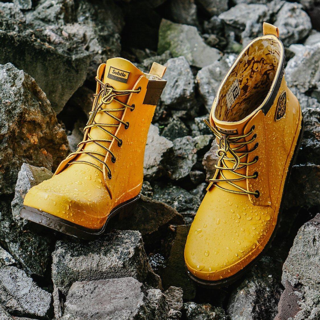 Mr.Rain X1 Yellow Handmade Unisex Rainboots by Subtle