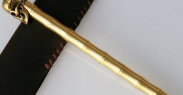 Brass Skull Pen