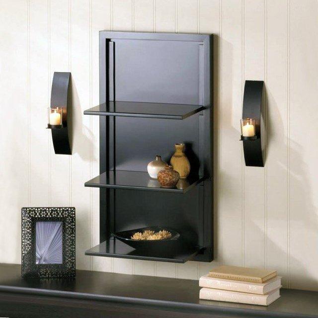 Black Folding Wall Shelf