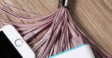 Leather Tassel USB Lightning Cable Key Chain