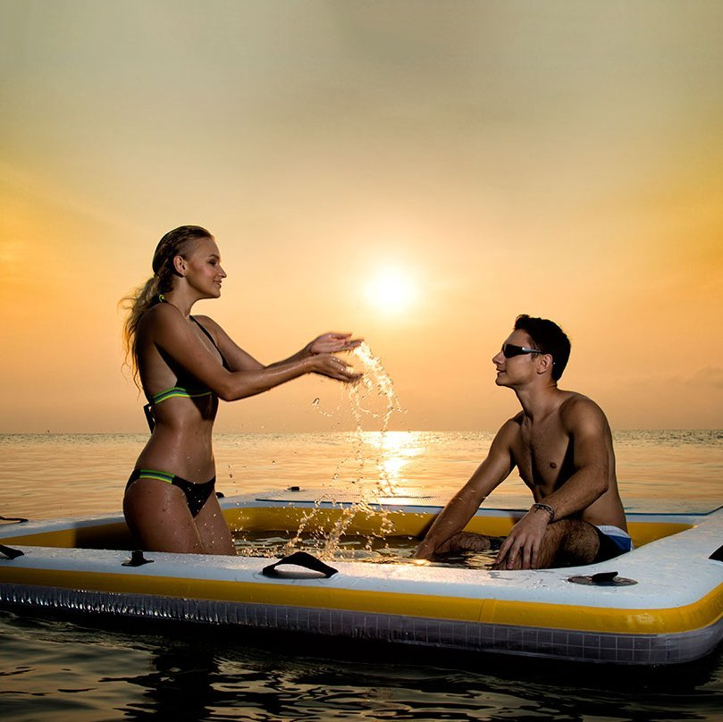 Inflatable Floating Deck Wet Lounge
