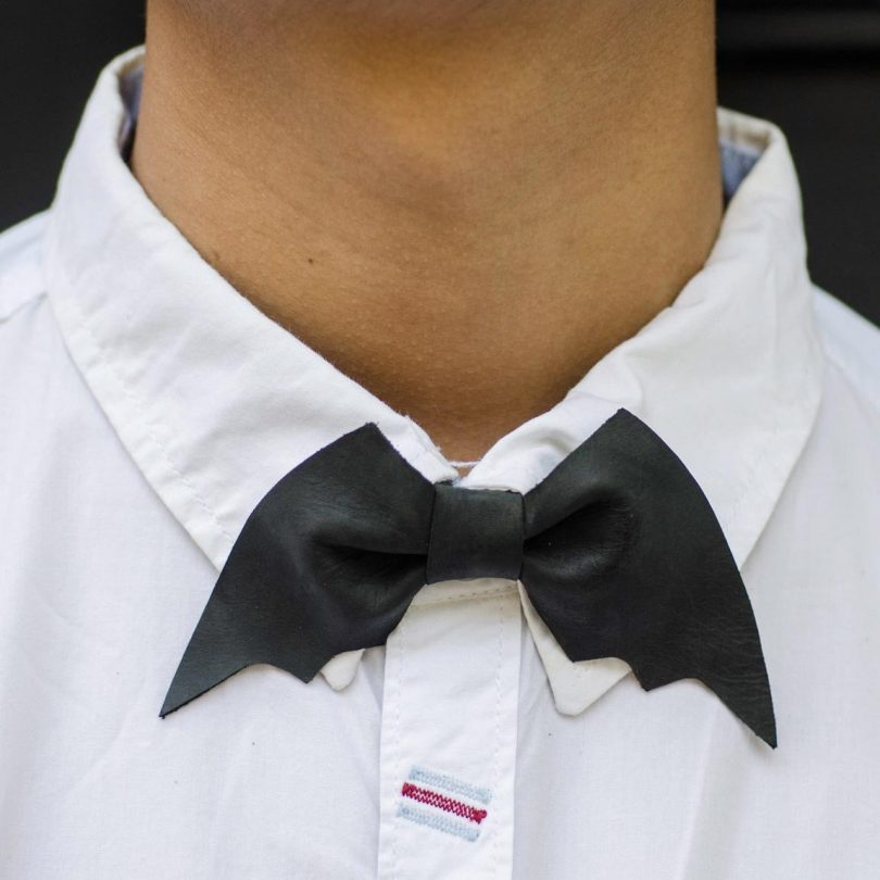 Leather Batman Bow-tie