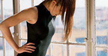 Shama Jade Equinox Jumpsuit: Black with Shiny Black