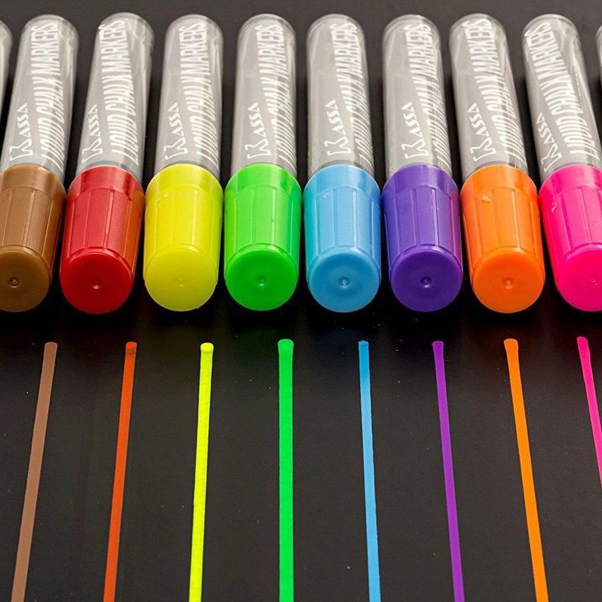 Chalk Markers Fluorescent Chalkboard Pens 10 Pack