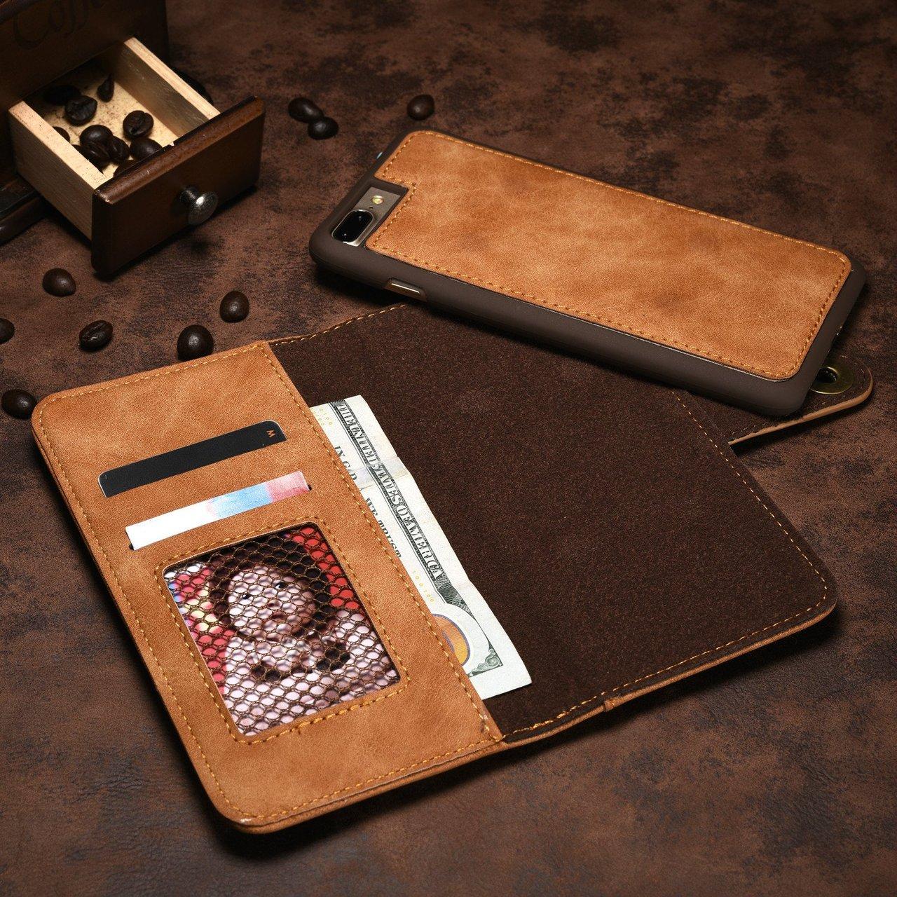 Retro Khaki iPhone Wallet Case