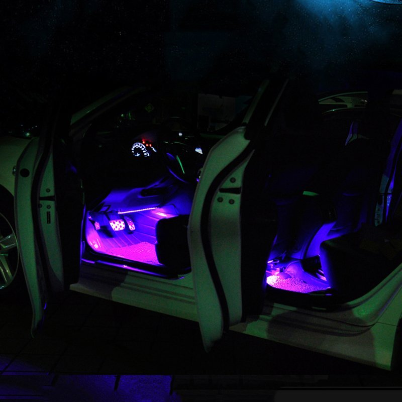 Led car interior light kit petagadget for Car interior led lighting multicolor